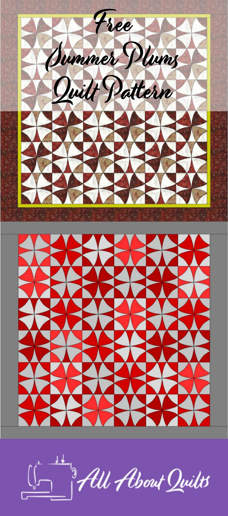 Free Summer Plums quilt pattern