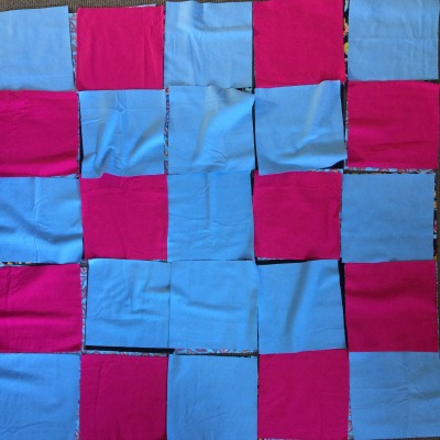 Layout of middle layer of flannel rag quilt