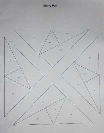 Starry path block pattern