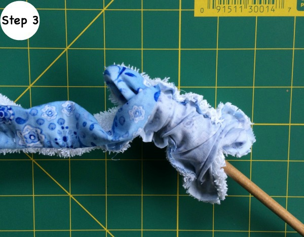Teether Tie Ring Step 3 Tutorial - turn right side out