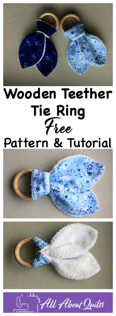 Pinterest pin wooden teether ring