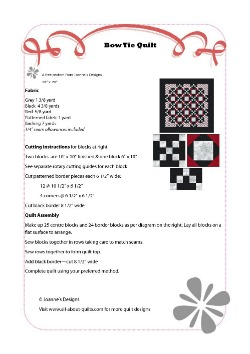 Bow Tie Quilt Pattern