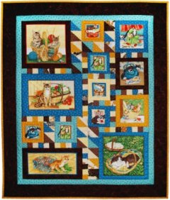 Free Large Cat in Window Pattern - Free Quilt-Inspired Cross