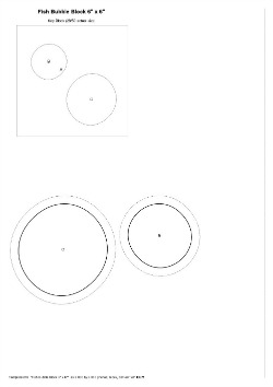 Fish Bubble Templates 6 x 6
