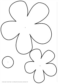 To Large Flower Template