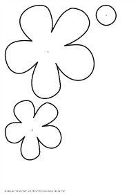 To Medium Flower Template