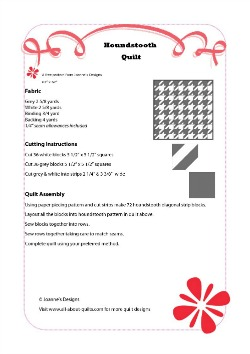 Houndstooth Quilt Pattern