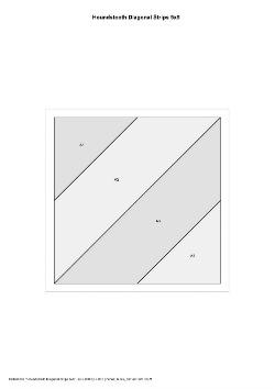 Houndstooth Diagonal Strip Block Foundation Paper Piecing Pattern