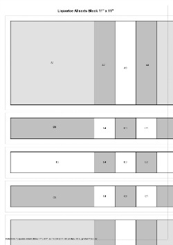 Liquorice Allsorts Paper Piecing Pattern