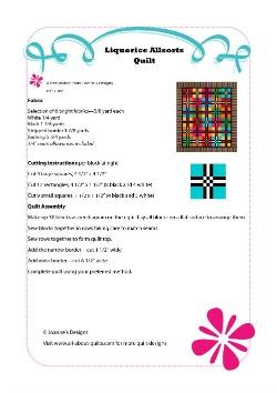 Liquorice Allsorts Quilt Pattern