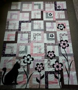 Garden cat quilt
