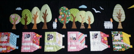 Wee Village Quilt trees