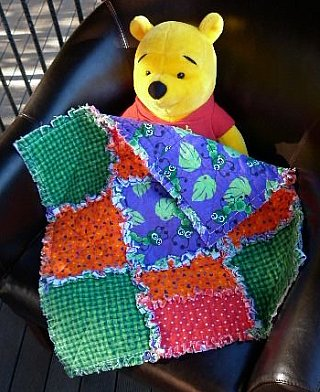 Small rag quilt