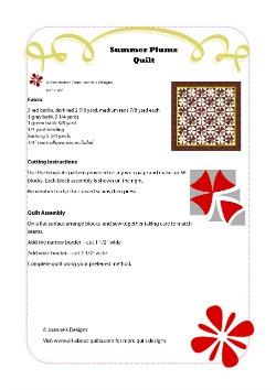 Summer Plums Quilt Pattern