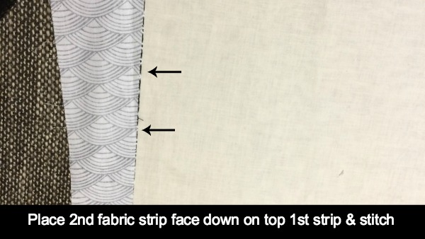 2nd fabric strip