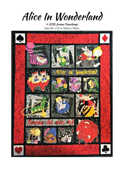 Alice in Wonderland pattern cover