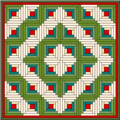 Barn Raising Quilt Pattern Free Knitting : Log Cabin Quilt Block