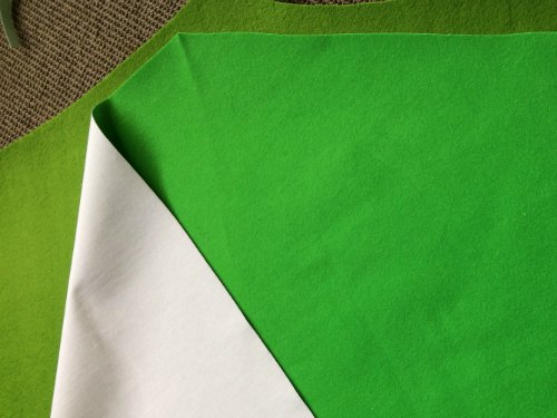 Conical felt tree - velcro fabric preparation