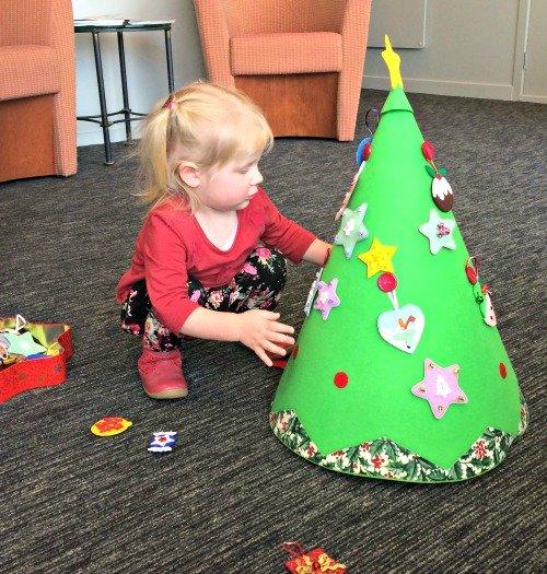 DIY conical felt Christmas Tree