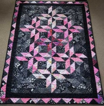 Emmys Half Square Triangle Quilt