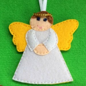 Felt Angel ready to hang on the child's Christmas tree