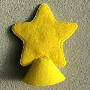 Felt Star tree topper