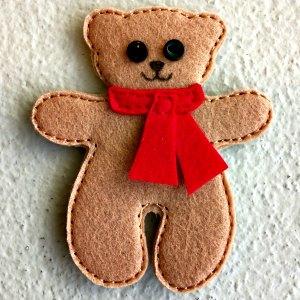 Felt teddy decoration