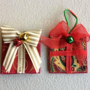 Felt and fabric present decorations