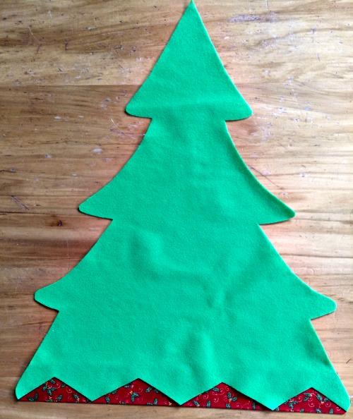 Front felt Christmas tree