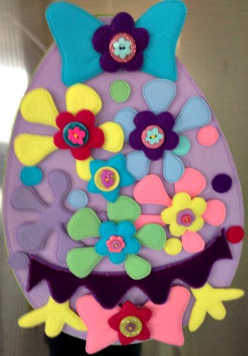 Felt Easter Egg creation by Bella