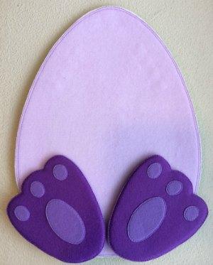 Felt Easter Bunny Feet