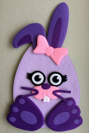 Felt Easter Bunny girl