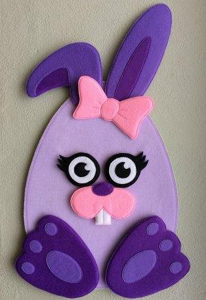 Felt Easter Egg Bunny Girl