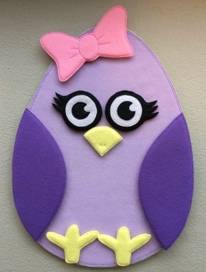 Felt Easter egg girl chicken