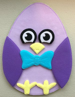 Felt Easter egg chicken