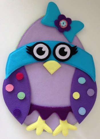 Felt Easter Super Chick made by Bella and her mum