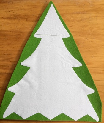 freezer paper pattern ironed on