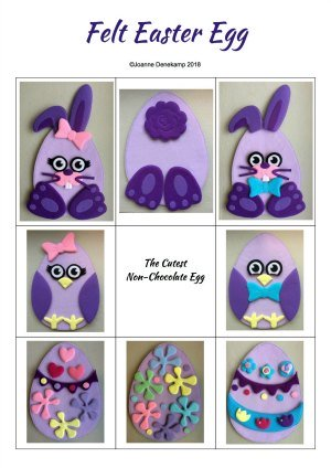 Felt Easter Egg Pattern cover