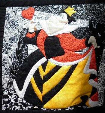 Alice in Wonderland applique Queen of Hearts