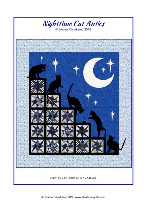 Nighttime Cat Antics Pattern