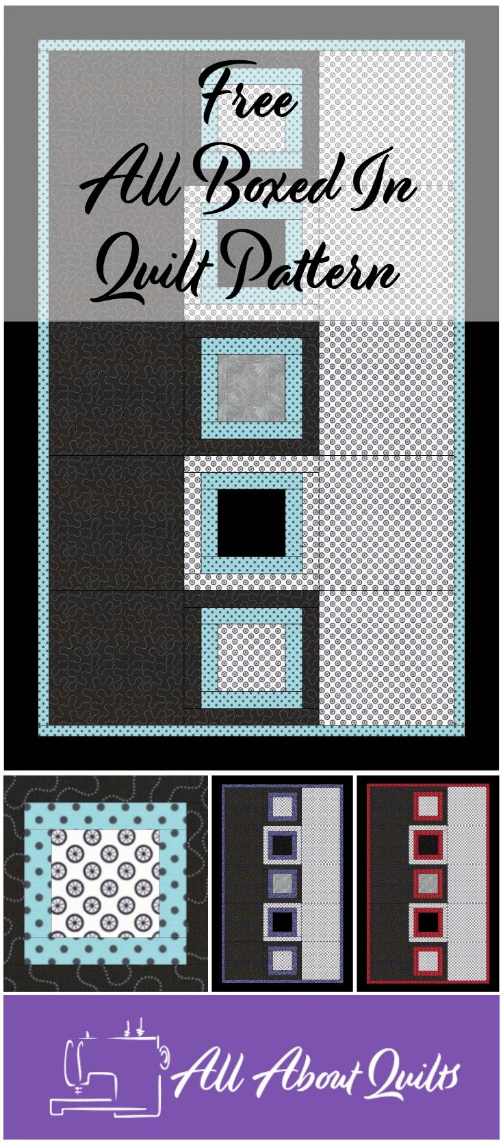 Free All Boxed In quilt pattern