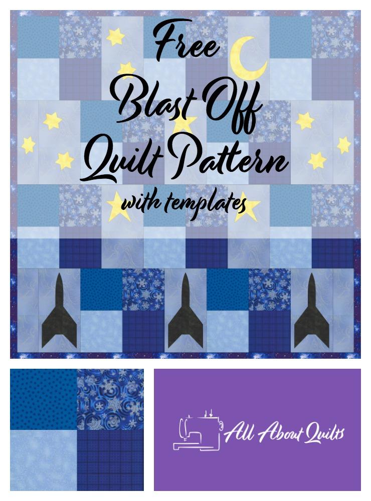 free Blast Off quilt pattern
