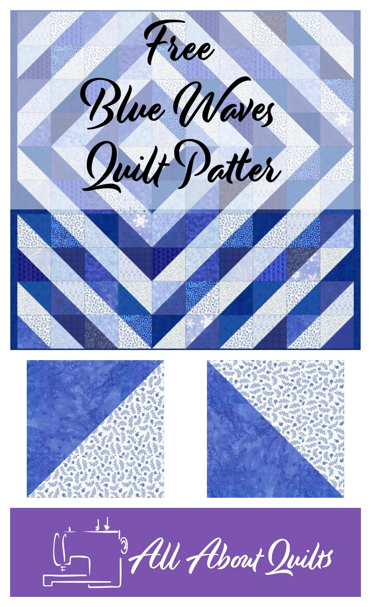 Free Blue Waves quilt pattern