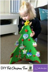 Pinterest Pin DIY felt Christmas tree
