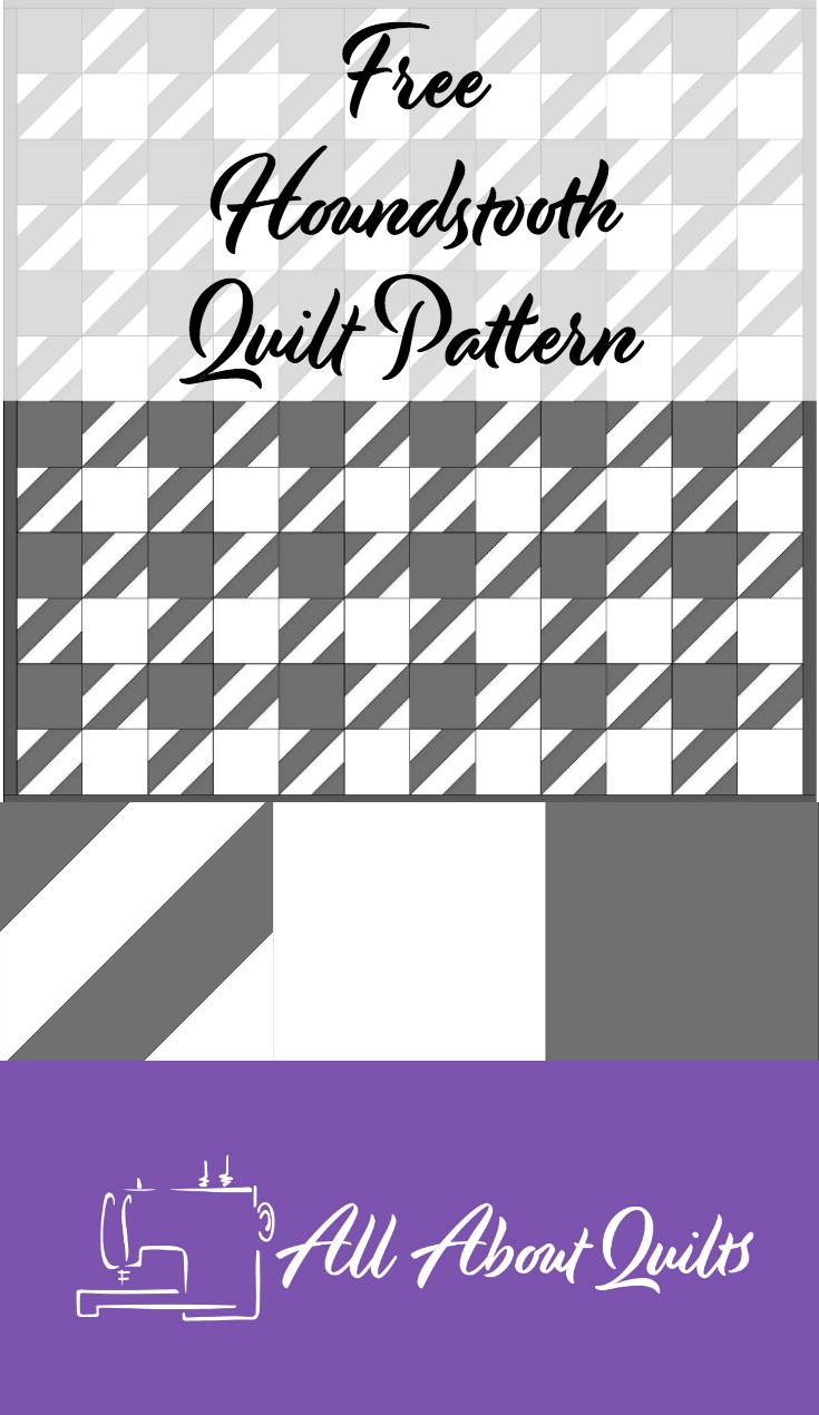 Free Houndstooth quilt pattern