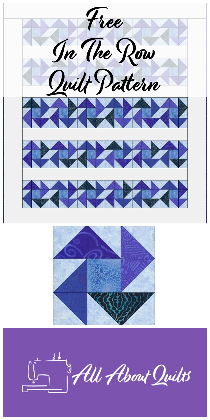 Free In The Row quilt pattern