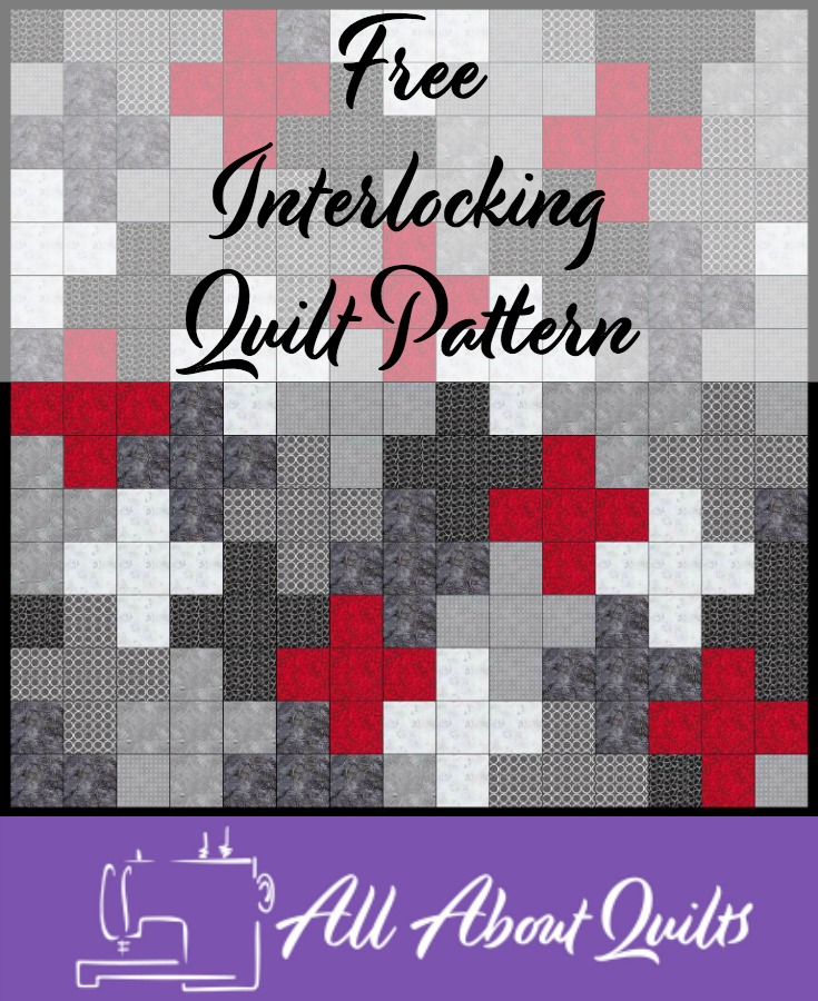 Free Interlocking quilt pattern