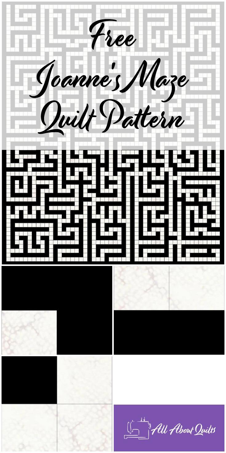 Free Joanne's Maze quilt pattern