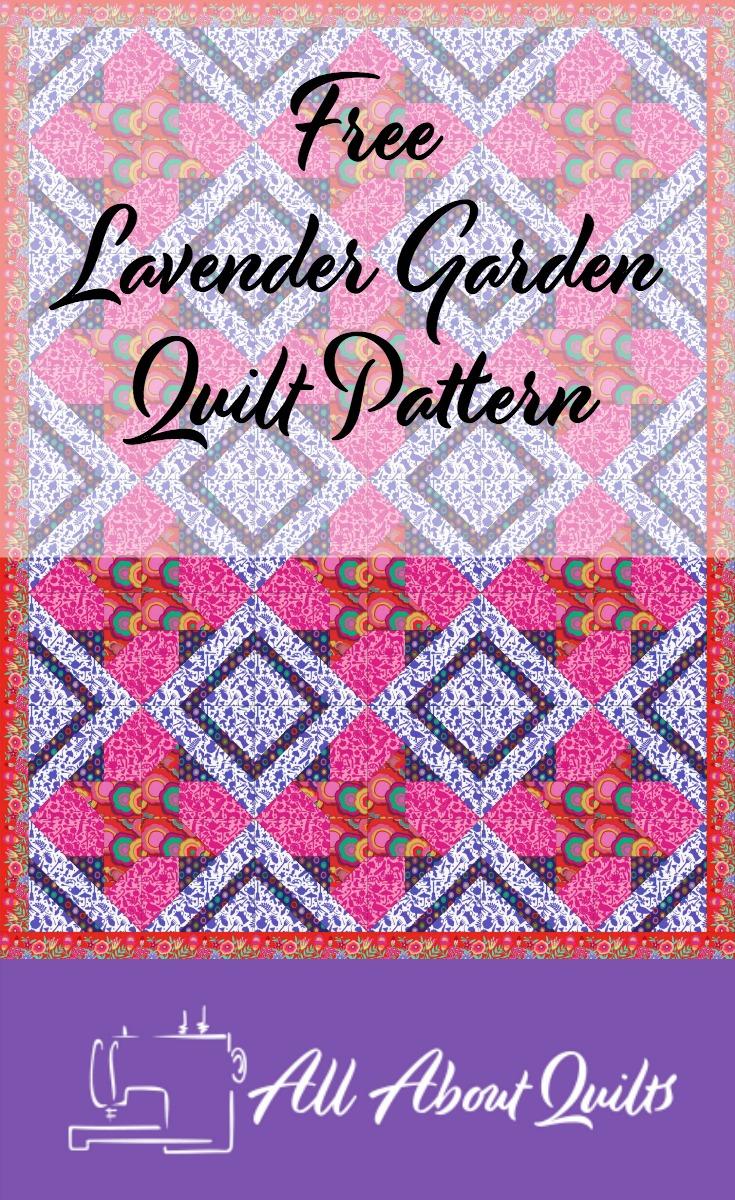 Free Lavender Garden quilt pattern