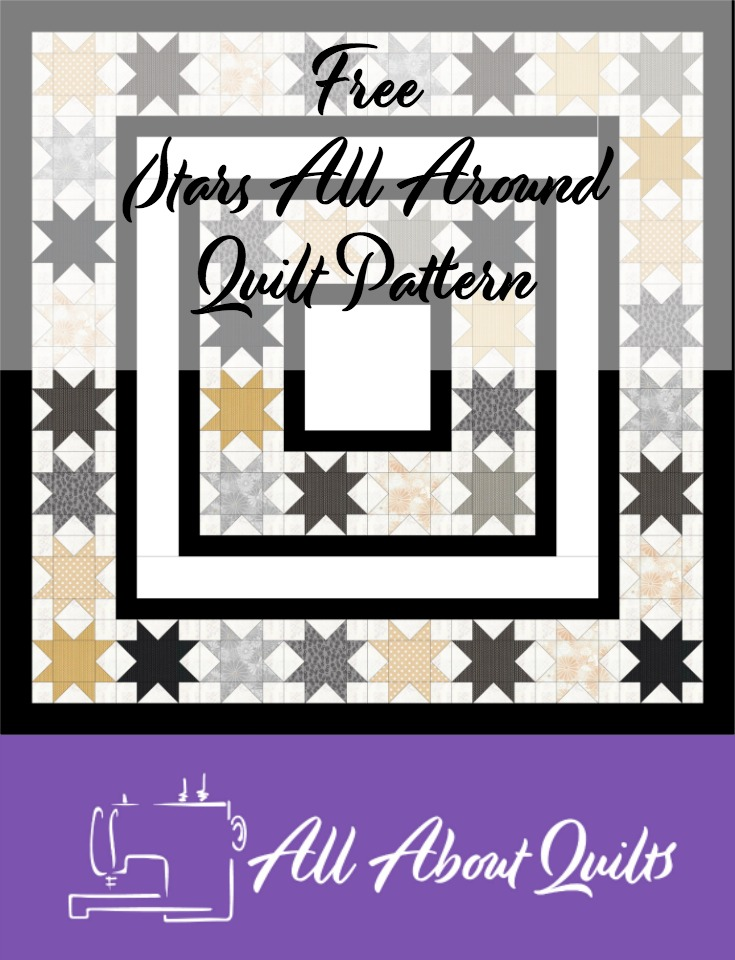 Free Stars all Around quilt pattern